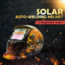 Pro Solar Auto Darkening Welding Helmet Arc Tig Skull Mask