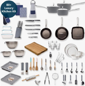 Kitchen Set All in one 80 + Starter Pack Kitchenware & Cookware Complete Kit