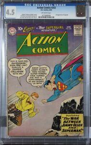 DC Comics Action Comics #253 1959 Second Appearance of Supergirl CGC 4.5