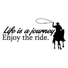 LIFE IS A JOURNEY ENJOY RIDE Sticker Decal Outback 4x4 Ute Country Aussie #65...