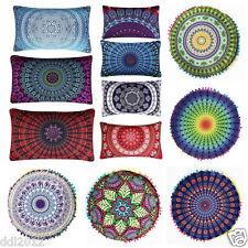 Indian Mandala Floor Pillows Bohemian Cushion Cushions Pillow Cover Case Decor