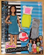BARBIE FASHIONISTAS GLAM CON fashion moda tempo libero look dtf01 Nuovo/Scatola Originale Bambola