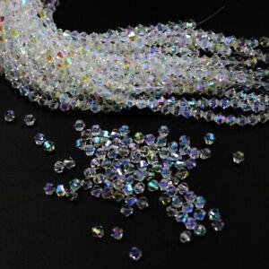 200pcs 4mm Austria Glass Crystal Bicone Loose beads #5301 DIY Jewelry making
