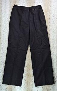 Liz Claiborne Women's Dress Pants Audra Cut 100% Wool Size 10 Heather Gray I-24
