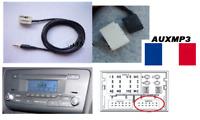 Cable auxiliaire aux adaptateur mp3 pour autoradio AUDI A1 simple