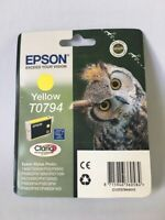 Epson T0794 yellow Claria ink cartridge Owl branded Genuine for Stylus Photo