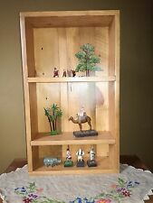 Antique Pitch pine bespoke dovetailed shelving newly carpenter made