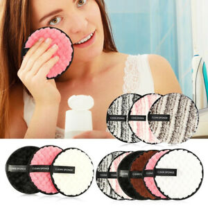 Cleansing Pads Make Up Remover Reusable Face Facial Sponge Cleaner Microfiber