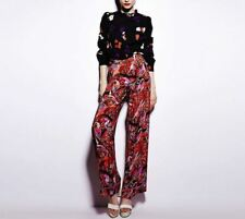 Marc Jacobs 'Nightginale Print' CDC Tomato Bisque 100% Silk Pants 2 NWT! $368