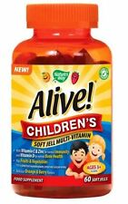 Nature's Way Alive Children's Soft Jell 60 Multi-Vitamin *Vegetarian*