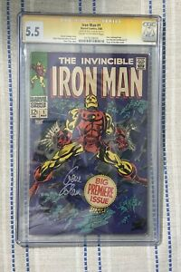 Invincible Iron Man 1 CGC 5.5 signed by Gene Colan