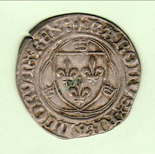 CHARLES VIII 1422/1461 BLANC COURONNES   flan large poids 2gr10