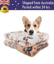 Pet Blanket Winter Dog Cat Bed Mat Foot Print Warm Sleeping Mattress Soft Fleece