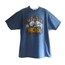 Vintage 1998 Harley Davidson T Shirt Men's XL HOG Rally Duluth Minnesota Blue