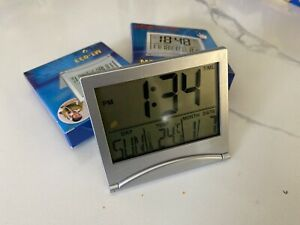 Calendar Digital Clocks - silver 3pcs Set