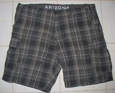 ARIZONA - Men's SIZE 46 - Plaid 100% Cotton Cargo Shorts