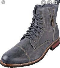 Ferro Aldo Mens Grey Distressed Andy Boots size 10