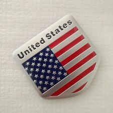 3D Car Auto Decor Sticker Badge Emblem Adhesive Aluminium Usa Us American Flag (Fits: Cadillac)