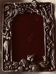 "Vintage Arthur Court 1991 Jungle  Pewter Picture Frame Tabletop 2 1/2"" X 1 3/4"""