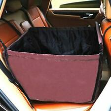 New listing Pet Car Back Flap Car Dog Seat Cover Safety Single Side Zipper Durable Brown