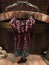 Rue 21 Junior,girls Spaghetti Strap Dress Size Small Multicolor Knee Length