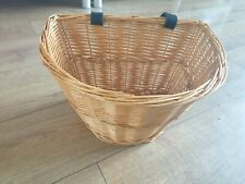 Bike/Bicycle Vintage Wicker Style Basket/Storage. Leather Straps. Adult size