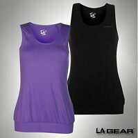New Ladies Branded LA Gear Breathable Mesh Top Fitness Sleeveless Vest Size 8-18