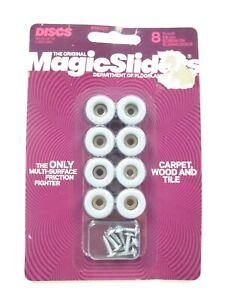 """Magic Sliders 08200 Screw-On Floor Slide 3/4"""" Round 8 Sliders"""