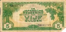 Japanese WWII Dutch East Indies Bills - Vijf Gulden, Tien Cent
