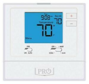 PRO1 IAQ T721  2 Stages, 18 to 30VAC, wall, White Non Programmable Thermostat