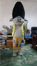Adult Troll Mascot Costume Princess Poppy Branch Dress Halloween Cosplay Cartoon