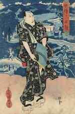 A4 Photo Toyokuni Utagawa 1786 1865 The actor Naritaya Hakuen c1830 Print Poster