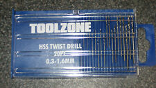 Micro HSS Twist Drill 20pc 0.3 - 1.6mm, Mini Twist Drill set
