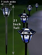 New listing 1Pc Solar Lantern Outdoor Light Yard Garden Post Pole Lighting Lamp Fixture New