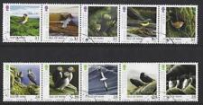 ISLA DE MAN 2006 , MANX Pájaro Atlas Conjunto De 10 in 2 TIRAS MATASELLADO