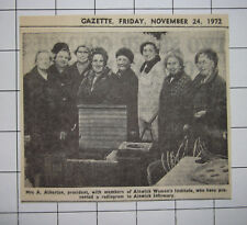 MRS A ATHERTON & Members Alnwick Womens Institute Present Radiogram To Infirmary