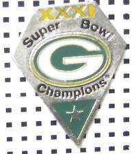 NFL LICENSED LAPEL  PIN TEAM LOGO GREEN BAY PACKERS  SUPERBOWL XXXI GO PACKERS