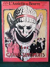 L'Assiette au Beurre #103 Les Grands Sentiments 1905 French Satire Art