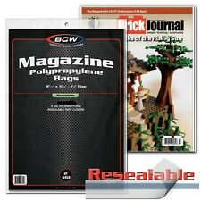 """12 Magazine Bags Archival Protector Resealable Sleeves BCW 8 3/4"""" x 11 1/8"""" New"""