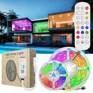 30M RGB 5050 Flexible Led Strip Light SMD Remote 12V DC Power 82ft Christmas Kit