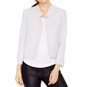 Rachel Roy Blazer Sz 0 Blue Ash All Things With Love Zip-Up Side Suit Jacket