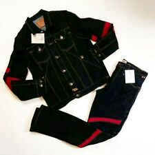 Iro Ochi mens 2p set 100%AUTHENTIC L/S Button jacket & PANTS Size M denim blue