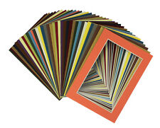 Set of 20 MIXED COLORS 16x20 Picture Mats  with WhiteCore for 11x14 Photos