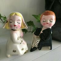 Vintage Salt & Pepper Shakers, Made In Japan - Preloved, Man and Lady