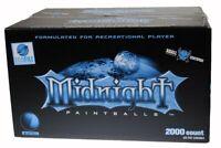 XBALL CERTIFIED MIDNIGHT 2000 Paintballs - Blue / Light Blue Shell - AQUA FILL