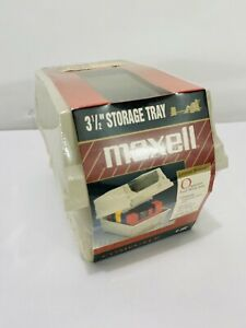 """VTG Maxell 3.5"""" Floppy Disk File Storage Case Holds 40 New In Package NOS"""