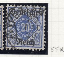 Germany 1920 Wurt. OFFICIAL Early Issue Fine Used 20pf. Optd 270570