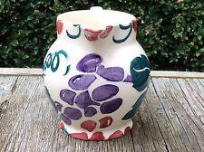 EMMA BRIDGEWATER Red & Purple Vine 1/2 pint JUG spongeware