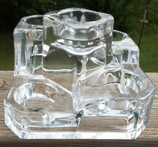 Partylite Crystal Castle Tealight Holder P7170 Limited Edition Nib!