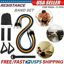 Fitness 11 PCS Resistance Bands Set Home Gym Exercise Tube Bands Training